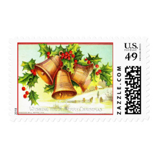 Wishing You a Merry Christmas 1911 Vintage Postage Stamp