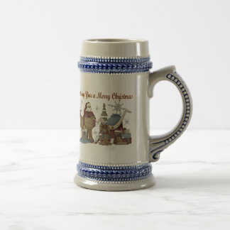 Wishing You a Merry Christmas Beer Stein