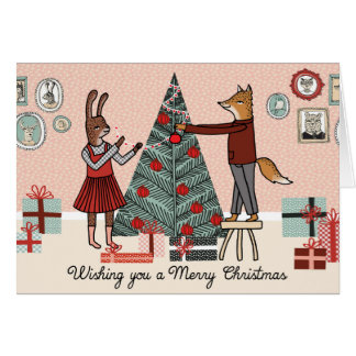 Wishing you a Merry Christmas - Decorate the Tree Card