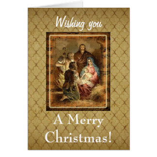 Wishing You A Merry Christmas Greeting Card