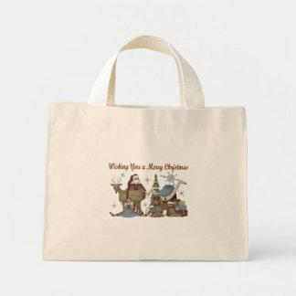 Wishing You a Merry Christmas Mini Tote Bag