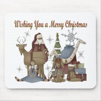 Wishing You a Merry Christmas Mousepad