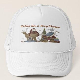 Wishing You a Merry Christmas Trucker Hat