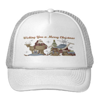 Wishing You a Merry Christmas Trucker Hat