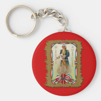 Wishing You a Merry Fourth of July Basic Round Button Keychain