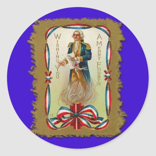 Wishing You a Merry Fourth of July Sticker