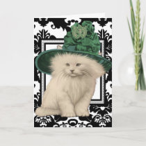 Wishing You a Purrfectly Delightful St. Patrick's Card