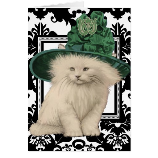 Wishing You a Purrfectly Delightful St. Patrick's Greeting Cards