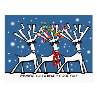 Wishing you a really cool Yule Postcard