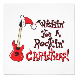 Wishing You a Rocking Christmas Clock Pillow Mugs Photo Print