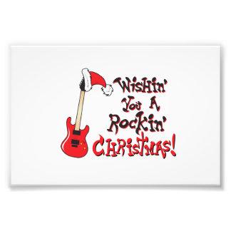 Wishing You a Rocking Christmas Clock Pillow Mugs Photo Art