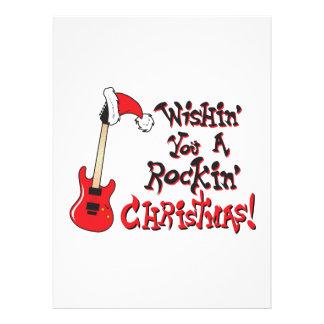 Wishing You a Rocking Christmas Guitar Invitation