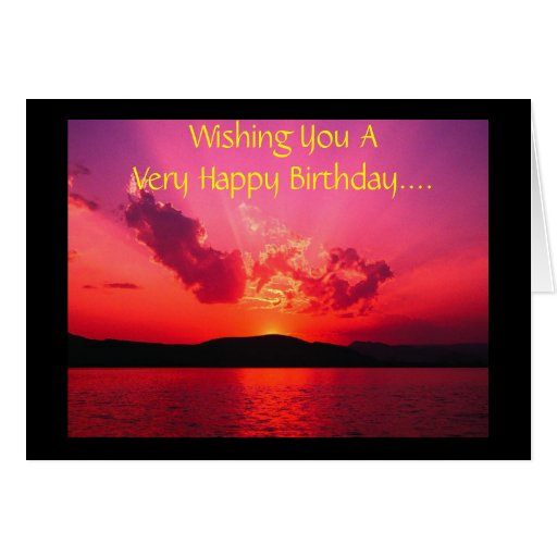 Wishing You A Very Happy Birthday.... Greeting Card