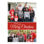 Wishing you a very Merry Christmas | 5x7 | red Announcements
