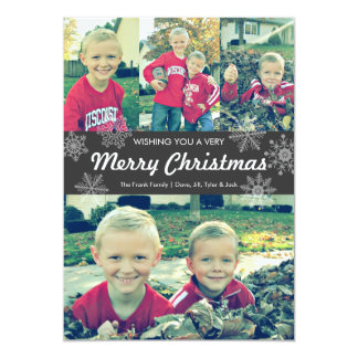 Wishing you a very Merry Christmas | snowflakes 5x7 Paper Invitation Card