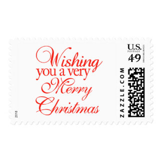 Wishing you a very merry Christmas! Stamp