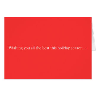 Wishing you all the best this holiday season card