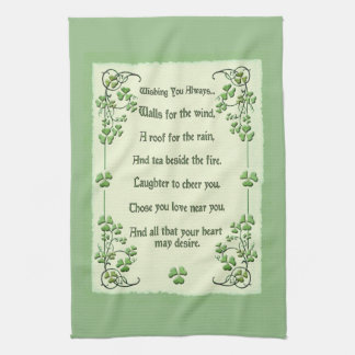 Wishing You Always Irish Blessing Hand Towel