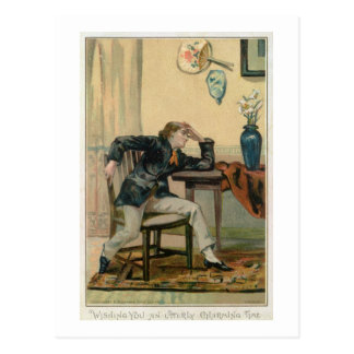 Wishing You An Utterly Charming Time, Victorian Ch Postcard