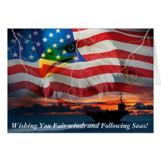 Wishing you Fair winds and Following seas. Greeting Card