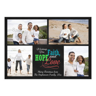 Wishing you Faith, Hope and Love Custom Announcements