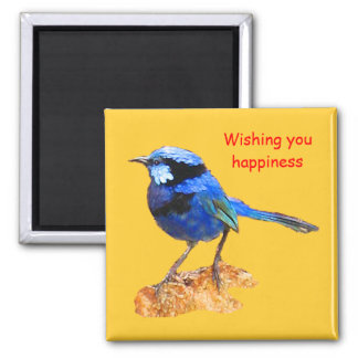 wishing you happiness 2 inch square magnet
