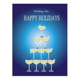 Wishing You HAPPY HOLIDAYS Postcard