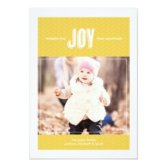 Wishing You Joy - Holiday Photo Greeting Card