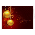 """Wishing You Magic This Christmas"" with Gold Greeting Card"