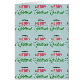 Wishing You Merry Christmas Typographical Design Card