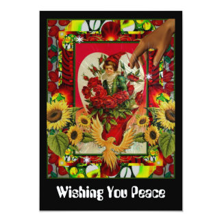 Wishing You Peace 5x7 Paper Invitation Card