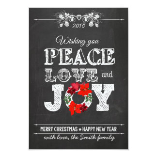 Wishing you peace love and Joy Card