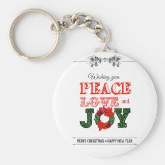 Wishing you peace love and Joy Keychain