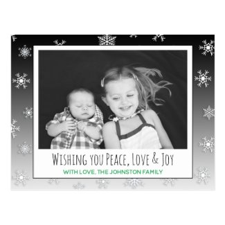 Wishing you Peace, Love & Joy Photo Christmas Card