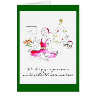 Wishing you presence under the Christmas tree Greeting Card