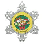 Wishing You the Best of the Season Snowflake Pewter Christmas Ornament
