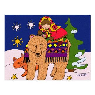 Wishing You the Magic of Christmas Postcard