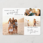 """wishing you the merriest christmas yet holiday card<br><div class=""""desc"""">A beautiful multi photo christmas card.</div>"""