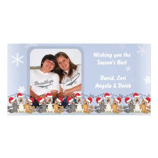 Wishing You The Season's Best Snowflake Photo Card