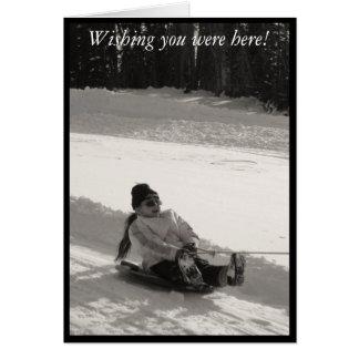 Wishing you were here! card