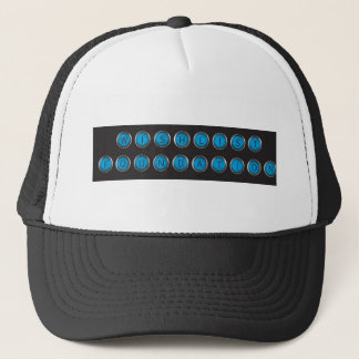 Wishlist Backspacer Type Trucker Hat
