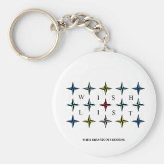 Wishlist, Dreams Come True! Basic Round Button Keychain