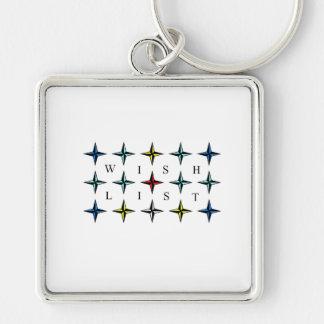 Wishlist, Your True Dream Silver-Colored Square Keychain