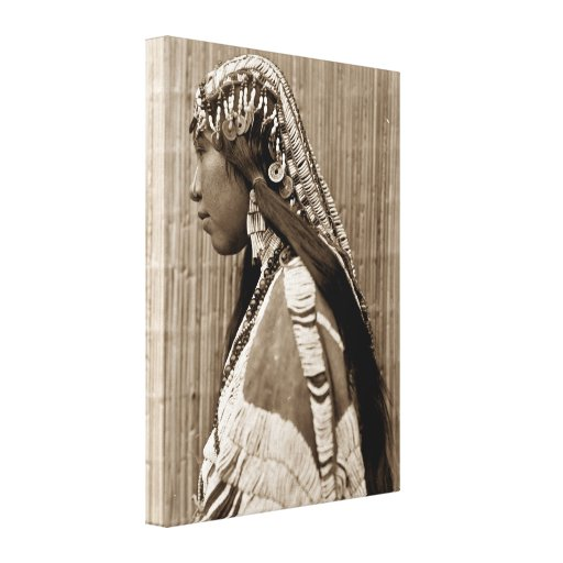 Wishran Native American Indian Girl Canvas Print