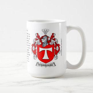 Wisniewski, the Origin, the Meaning and the Crest Classic White Coffee Mug