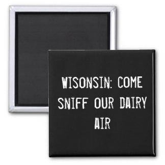 Wisonsin aspiración venida nuestro aire de la lec imán de frigorifico