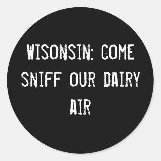 Wisonsin aspiración venida nuestro aire de la lec etiquetas redondas