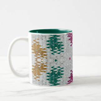 wisps of color Two-Tone coffee mug