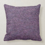 Wispy Black Purple White Faux Shag Texture Throw Pillow