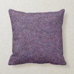 Wispy Black Purple White Faux Shag Texture Throw Pillow